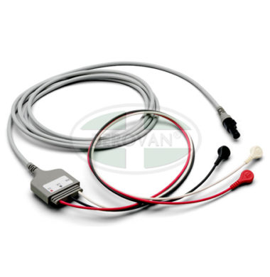 Welch Allyn ECG Cable, 3 Attached Lead