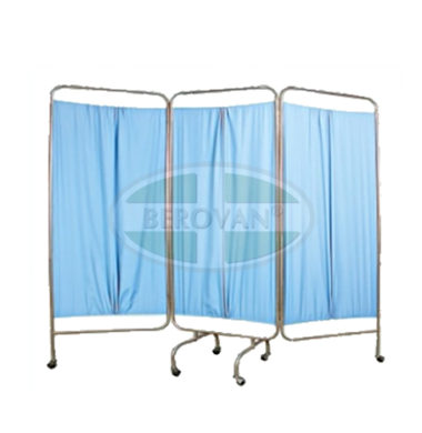 MS Screen -3 Panel W/ Curtain (Blue) FS5605S