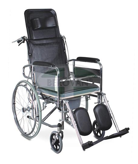 MS Commode Wheelchair Reclining FS609GC – Berovan